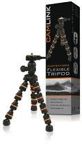 Camlink Flexible Travel DSLR Camera Mini Tripod 18cm 0.5kg Black/Orange