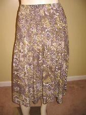 Jones New York Collection Petite Women's Multi-Color Pleated Skirt Size PL.