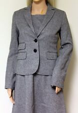 J.CREW 100% gray wool womens blazer jacket size 0 NWT