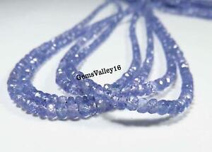 Tanzanite Beads AGA128 Tanzanite Necklace Tanzanite Faceted Rondelle Beads 4.5-7mm 16 Inch Strand