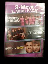 New Sealed 3 Movie Laugh Pack Brides Maids The Boss Identity Thief Tv Video