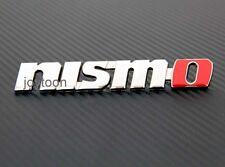 set Metal Emblem Car Logo Front Grill Grille Badge Nismo Tuning jG29