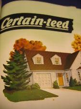 1957 Certain-Teed Roofing & Siding Catalog Asbestos CertainTeed Bestwall Sales