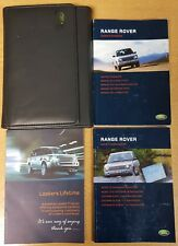 GENUINE RANGE ROVER HANDBOOK OWNERS MANUAL WALLET NAVI 2002–2005 PACK G-881