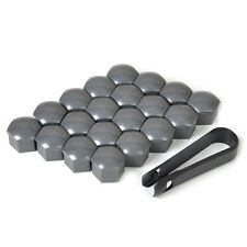 20pcs Wheel Lug Nut Blot Cover Caps + Removal Tool for VW Audi 321601173A Grey
