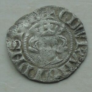 Hammered Medieval Silver Penny, Long Cross of Edward, London Coin 18mm 1.15g