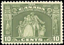 1934 Mint H Canada F-VF Scott #209 10c Loyalists Issue Stamp