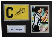 More details for kevin keegan signed captains armband a4 photo display newcastle united coa aftal