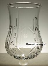Home Interiors Large Clear Hurricane Diamond Votive Cup w/ rubber grommet