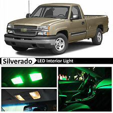 16x Green LED Lights Interior Package Kit 1999-2006 Chevy Silverado