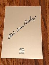 ELVIS ARON PRESLEY 25TH ANNIVERSARY LIMITED EDITION INSERT ~ 1980