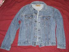 USA made LEVIS Women's L Vintage  Denim Jacket Trucker Jean Jacket Stretch