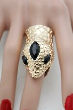 8 Band Fancy Snake Head Sexy Look Hot Women Gold Metal Ring Fashion Jewelry Size