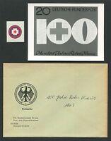 BUND FOTO-ESSAY 400 ROTES KREUZ 1963 RED CROSS PHOTO-ESSAY PROOF RARE!! e506