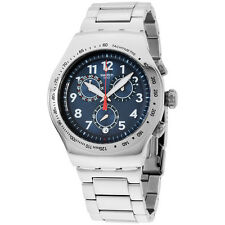 SwatchBLUE MAXIMUS Men's Stainless Steel Band Watch YOS455G