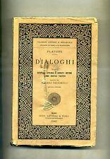 Platone # DIALOGHI # FILOSOFI ANTICHI E MEDIEVALI VOL. I # Laterza e Figli 1945