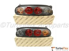 Toyota Supra 1997-1998 JZA80 Dark Housing Tail Light Set W/O Harness Genuine OEM