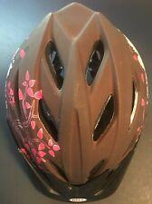 Bell Bicycle/Bike Helmet Youth Brown, Pink and Black. 53-57cm 20.9-22.4in. Used