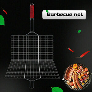 BBQ Grill Meat Barbeque Net Clamp Outdoor
