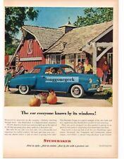 1948 Studebaker COMMANDER 2-Door Coupe Cumberland Blue on the Farm Vtg Print Ad