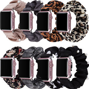 For Apple Watch Band Series SE 6 5 4 3 2 Scrunchie Elastic iWatch 40 42 44 Strap