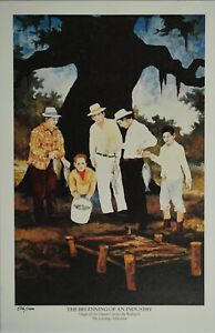 George Rodrique, 1993 LE 506/1000 Print, BEGINNING OF AN INDUSTRY. 12.25x8.25