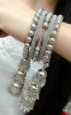 US Bridal Indian Bollywood Chain Hand Bracelet Fashion Jewel Silver Stone Love