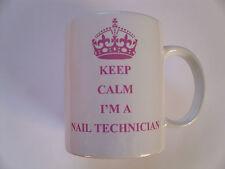 KEEP CALM I'M A NAIL TECHNICIAN PINK 11oz Ceramic Mug = ideal gift idea