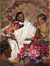 PAINTING PORTRAIT EMPEROR RAS TAFARI HAILE SELASSIE ETHIOPIA POSTER ART LV10598
