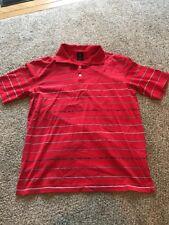 EUC Vintage 90's Nike Tiger Woods Red Polo Golf Shirt Logo Men's Size L Large