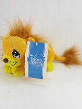 "Precious Moments Plush Stuffed Lion Brown Yellow Soft Dreamy Eyes 12"" Long"