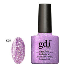 UK SELLER Gdi Nails DIAMOND K25 ORCHID WONDERS GLITTERS UV/LED Soak Off  GEL