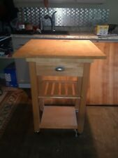 Butcher Block Kitchen Pub Table and stools