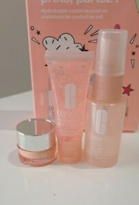 Clinique eyes and face skincare set.