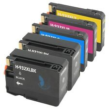 5 PACK 932 XL 933 XL Ink Cartridge for HP Officejet 6100 6700 6600 7100 New Chip