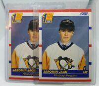 Jaromir Jagr 1990-91 Score Rookie #428 Pittsburgh Penguins Rookie Lot of 2 Mint