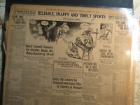 Boxing History Newspaper 1912 JACK JOHNSON CARTOON + FORFIT FOR JACK LANGFORD