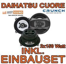 Crunch Lautsprecher für Daihatsu Cuore 13cm TÜR vorne hinten KFZ Boxen EINBAUSET
