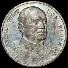 1. WELTKRIEG: Silber-Medaille 1914, Lauer. HEERFÜHRER GENERALOBERST VON KLUCK.