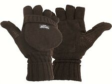 Thinsulate lined mitten/gloves Foldback Fingers Black Suede Palm Thermal Gloves