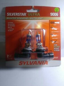 Sylvania Silverstar Ultra 9006 55W Two Head Light  Bulbs For Ultra Night Vision
