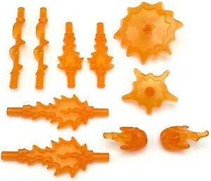 Lego 10 New Trans-Orange Power Bursts Marvel Avengers Super Hero Weapons