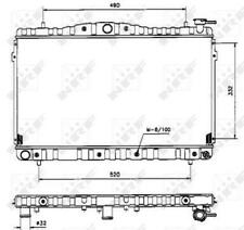 Radiador refrigeración por agua radiador del motor NRF NRF 53504