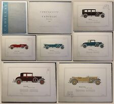 General Motors Ehrenliste der Cadillac Besitzer 12 farbige Bildtafeln um 1925 xz