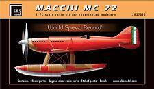 Macchi MC 72 full kit 1/72 SBS Model 7015
