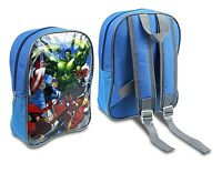 CHILDRENS KIDS BOY BLUE MARVEL AVENGERS HULK SCHOOL BACKPACK RUCKSACK BAG 56375