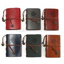 Vintage Diary Notebook String Travel Leather Cuir Paper Journal Book Sketchbook