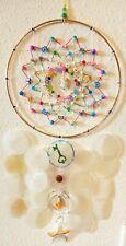 String Art, WINDCHIME Dream Catcher BUTTERFLIES Crystal Ring, CAPIZ SHELLS