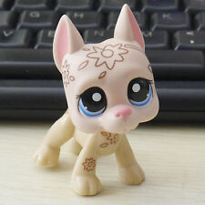 Littlest pet shop Coconut fuzzy Great Dane dog  # LPS mini Action Figure