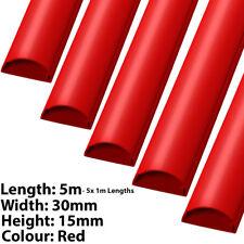 5x 1 M (5 M) - 30 mm x 15 mm Rosso HDMI Ottico AV/CAVO PER PC coperchio della canalizzazione/Tubo Protettivo
